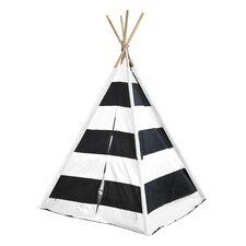 Kids Play Tent in Black & White Stripes