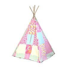 Kids Play Tent in Pink & White Patchwork