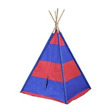 Red / Navy Stripes Kid Play Teepee