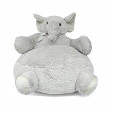Elephant Figural Plush Kids Novelty Chair