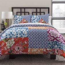 Multi Floral Patchwork Duvet Set
