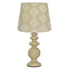 "Tan Porcelain 15.5"" Table Lamp"