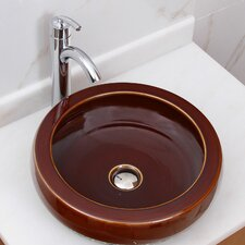 Chocolate Caramel Vessel Bathroom Sink