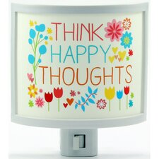 Think Happy Thoughts Night Light