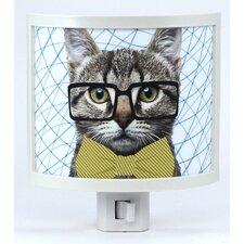 Hipster Cat Night Light
