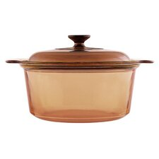 Visions 5L Glass Round Casserole