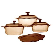 3-Piece Versapot Glass Round Casserole-Set