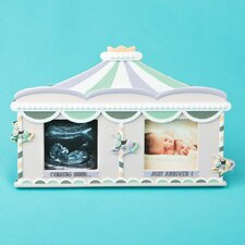 Sonogram Birth and Fabulous Circus Tent Double Picture Frame