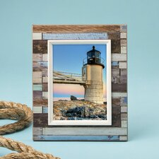 Distressed Wood Look Horizontal Striped Picture Frame