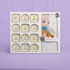 My First Year Baby Photo Collage Picture Frame