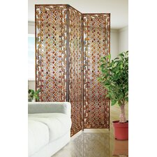"68"" x 47"" Decorative Jeweled 3 Panel Room Divider"