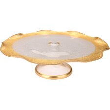 Trophy Glass Fotted Wavy Cake Stand