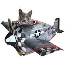 """14.57"""" Plane Cat Playhouse"""