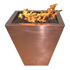 Copper Gas Tapered Fire Pit