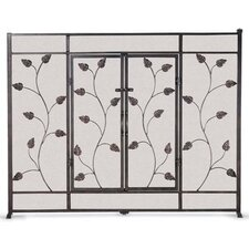 Leaf and Vine 1 Panel Fireplace Screen