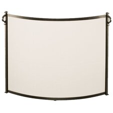 Bowed Craftsman 1 Panel Steel Fireplace Screen
