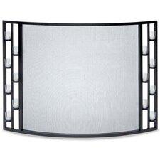 Tea Light 1 Panel Steel Fireplace Screen