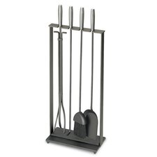 Soldiered Row Modern 5 Piece Steel Fireplace Tool Set