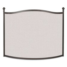 Bowed Ball and Claw 1 Panel Steel Fireplace Screen