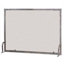 Old World Flat Top 1 Panel Fireplace Screen