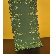 Fine Linen Classic Irish Greens Table Runner
