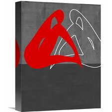'Red Woman' Graphic Art on Wrapped Canvas