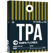 'TPA Tampa Luggage Tag 2' Graphic Art on Wrapped Canvas