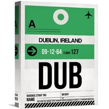 'DUB Dublin Luggage Tag 1' Graphic Art on Wrapped Canvas