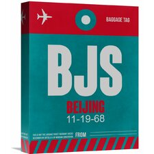 'BJS Beijing Luggage Tag 1' Graphic Art on Wrapped Canvas