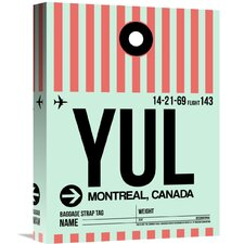 'YUL Montreal Luggage Tag 2' Graphic Art on Wrapped Canvas