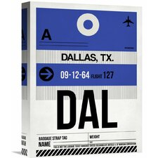 'DAL Dallas Luggage Tag 1' Graphic Art on Wrapped Canvas