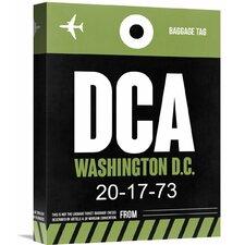 'DCA Washington Luggage Tag 2' Graphic Art on Wrapped Canvas