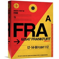 'FRA Frankfurt Luggage Tag 2' Graphic Art on Wrapped Canvas