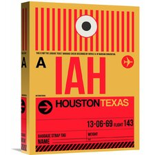 'IAH Houston Luggage Tag 1' Graphic Art on Wrapped Canvas