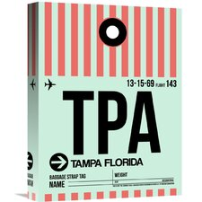 'TPA Tampa Luggage Tag 1' Graphic Art on Wrapped Canvas