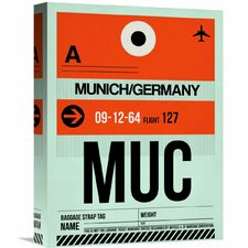 'MUC Munich Luggage Tag 2' Graphic Art on Wrapped Canvas