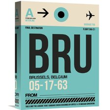 'BRU Brussels Luggage Tag 1' Graphic Art on Wrapped Canvas