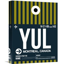 'YUL Montreal Luggage Tag 1' Graphic Art on Wrapped Canvas