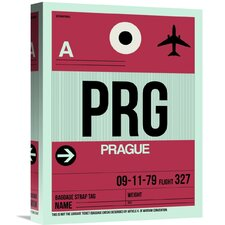 'PRG Prague Luggage Tag 2' Graphic Art on Wrapped Canvas