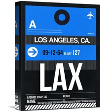 'LAX Los Angeles Luggage Tag 3' Graphic Art on Wrapped Canvas