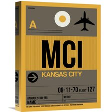 'MCI Kansas City Luggage Tag 1' Graphic Art on Wrapped Canvas