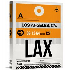 'LAX Los Angeles Luggage Tag 2' Graphic Art on Wrapped Canvas