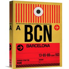'BCN Barcelona Luggage Tag 1' Graphic Art on Wrapped Canvas
