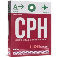 'CPH Copenhagen Luggage Tag 2' Graphic Art on Wrapped Canvas