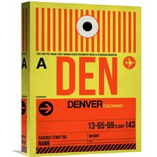 'DEN Denver Luggage Tag 1' Graphic Art on Wrapped Canvas