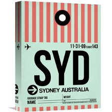 'SYD Sydney Luggage Tag 1' Graphic Art on Wrapped Canvas