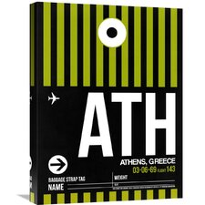 'ATH Athens Luggage Tag 2' Graphic Art on Wrapped Canvas