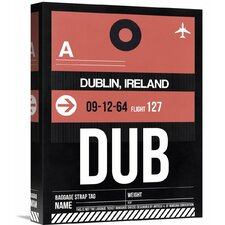 'DUB Dublin Luggage Tag 2' Graphic Art on Wrapped Canvas