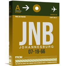 'JNB Johannesburg Luggage Tag 1' Graphic Art on Wrapped Canvas