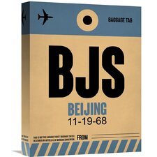 'BJS Beijing Luggage Tag 2' Graphic Art on Wrapped Canvas